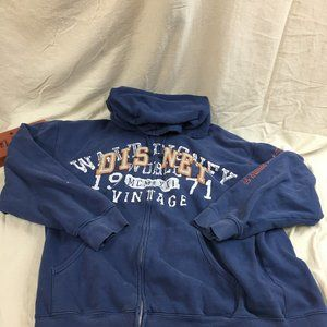 Walt Disney World Spelled Out Embroidered Zip Up